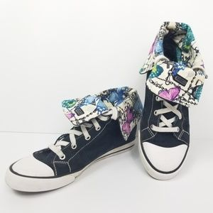 Coach Fold Over Sneakers Size 8.5 Graphic Print
